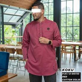 Baju Muslim Samase Koko Kurta | Koku Merah U-00733