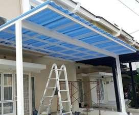 Kami bengkel las nerimah pemasangan kanopi atap alderon $$1154