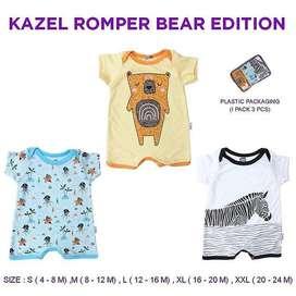 Kazel Romper Boy Bear Edition (1 Pack isi 3 Pcs)