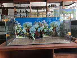 Jual aquarium 100x45x45. Ready stock