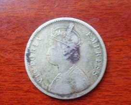 This is British Era Original Silver coins dated 1878.