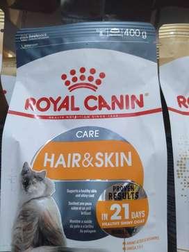 Royal Canin Hair and skin 400gr makanan kucing
