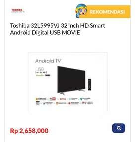 Kredit TV Toshiba 32L5995VJ 32 Inch HD Smart Android Digital USB MOVIE
