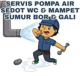 Sumur bor gali suntik servis pompa air service saluran mampet sedot wc
