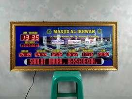 Menyediakan Jam Masjid Digital Gold Mewah Kirim Masjid Anda