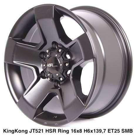 Toko pelek KINGKONG JT521 HSR R16X8 H6X139,7 ET25 SMB 0