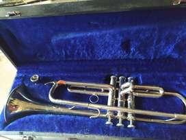 Trumpet Bb nickel merk lincoln