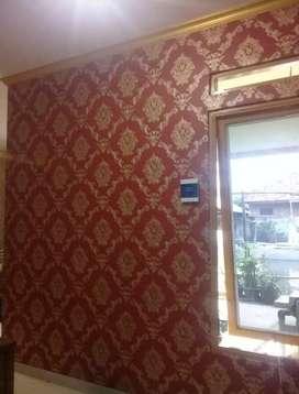 Wallpaper Dinding Murah - 5m2 - Motif Classic Gold