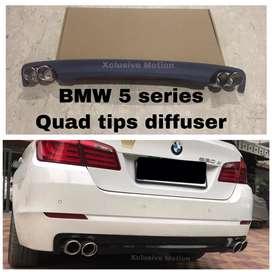 Bmw 5 series quad tips diffuser