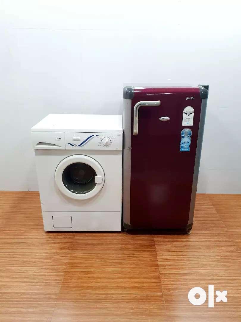 IFB front load 5kg and Godrej single door 190 litre fridge 0