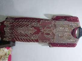 Bridal Tail Mexi Maroon Colour Dress in Brand new condition