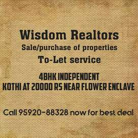 4bhk independent kothi at 20000 rs