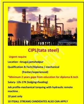 Tata Steel vendor pay roll salary plus pf esi