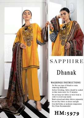 Winter Collection 2K20 Neck Embroidered Linen Fabric
