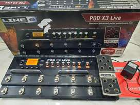 Efek gitar Pod x3 live lengkap mulus joss