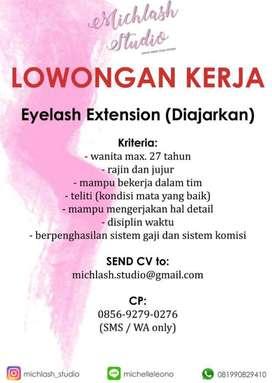 Lowongan kerja staff eyelash extension atau pasang bulu mata