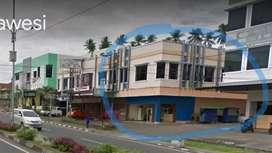 Ruko sudut disewakan, lokasi strategis kawasan NEW CBD di Manado.