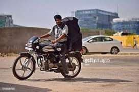 Delivery boy in job