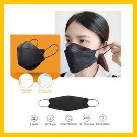 Masker kf94 isi 10pcs murah warna hitam