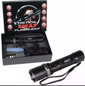 Torch/led flash light long range rechargeable SWAT