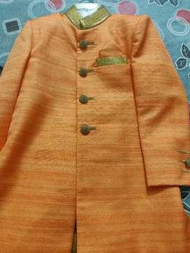 Boys 3-6 years grand orange sherwani suit