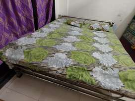 King size bed made of steel