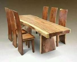 Meja kursi makan trembesi spesial