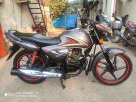 Honda CB shine 5 years insurance 1 st owner almost new condition