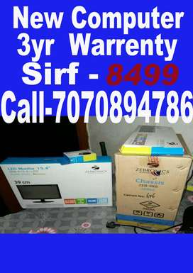 Naya computer sabse kam price me with warranty all features