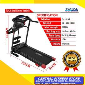 jual toko treadmill elektrik 3fungsi TL 629 murah electrik yogyakarta