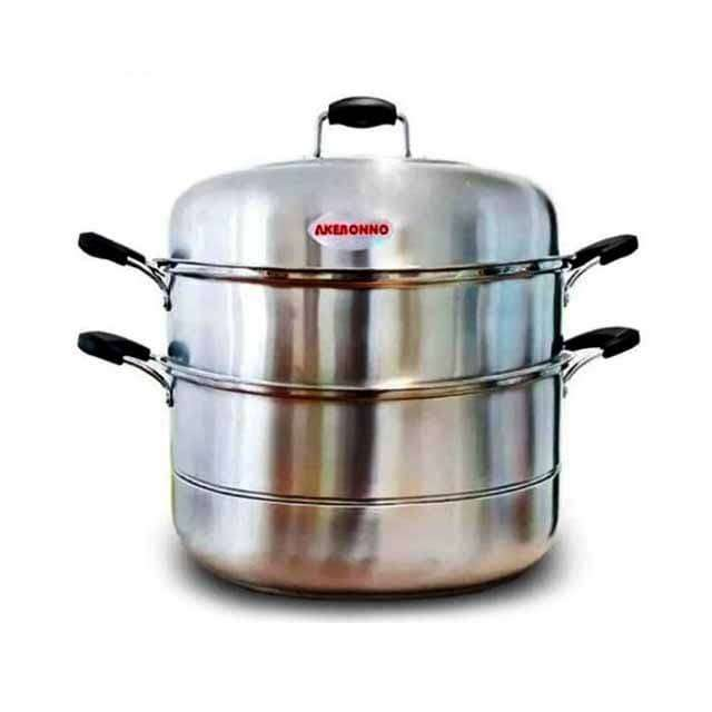 Akebonno Steamer Pot 32cm Panci Kukus Stainless Steel Dengan 2 Layer 0