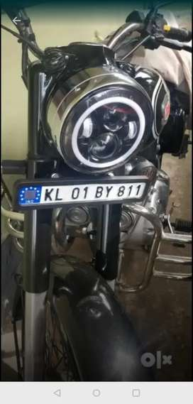 2016 Royal Enfield Std. 500 with new battery single use