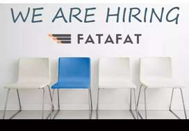 Delivery boy in Fatafat company. Local preference