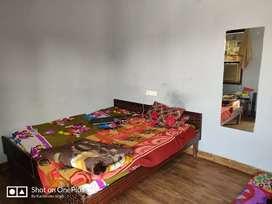 One room, bed, Fridge, Ac, washroom kicthen