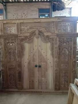Pintu Gebyok Ukir Kayu Jati megajakan
