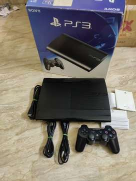 PS3 Console with two controllers