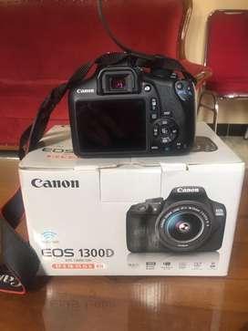 Jual murah CANON EOS 1300D wi-fi  kit 1 is 18-55 fullset