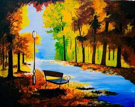 Beautiful scenery painting.