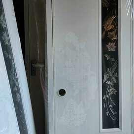 Pintu Kamar Mandi PVC Lux Premium Kaca Motif Burung