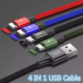 BASEUS 3.5A 1.2m 4 In 1 Fast Charging USB Cable