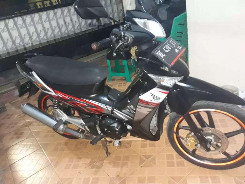 Supra x 125 cc th 2012 double disk karburator pajak hidup plat lamsel 0