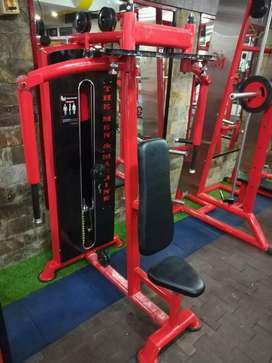 Gym set up old and new dumbbell plates rod manufacturing