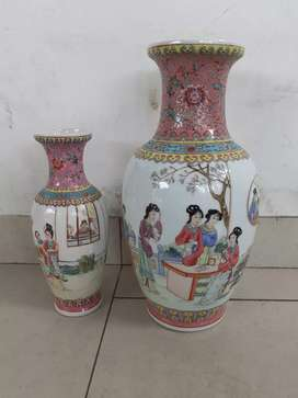 Guci Keramik Cina Antik Hand Painted