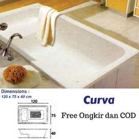 Bathtub Marbel Curva Free Ongkos Kirim Dan COD Jabodetabek