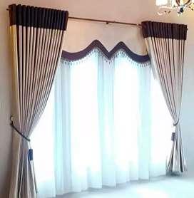 Gorden jendela berbagai pilihan bahan, motif dan warna / gordyn m8