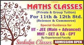 MATHS CLASSES ( Private & Gorup Tuition ) For 11th & 12th STD (Sci. &