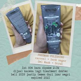 FREEMAN CHARCOAL & BLACK SUGAR POLISHING GEL  MASK + SCRUB