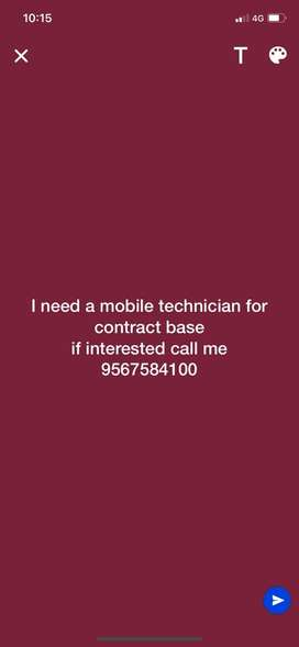 i need a mobile technician for contract base if intersetd call me