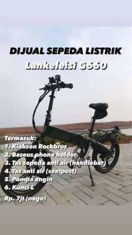 Sepeda listrik Lankeleisi G660 lipat elektrik bike