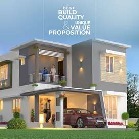 80% home loan - Affordable premium 3 BHK Villa for sale in palakkad
